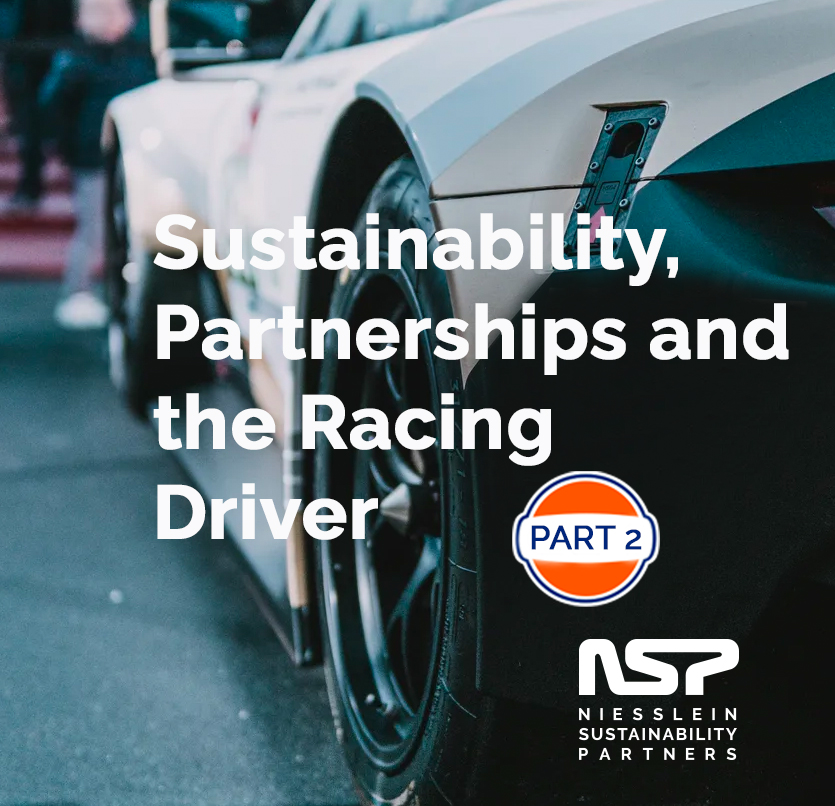 Sustainability, Partnerships and the Racing Driver Part 2