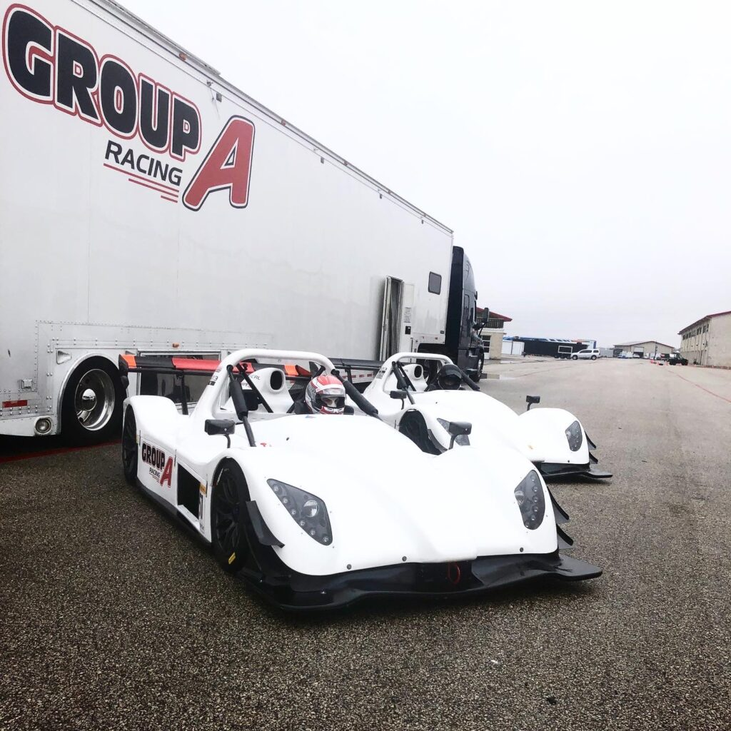 Group A Racing Radical racing cars by transport