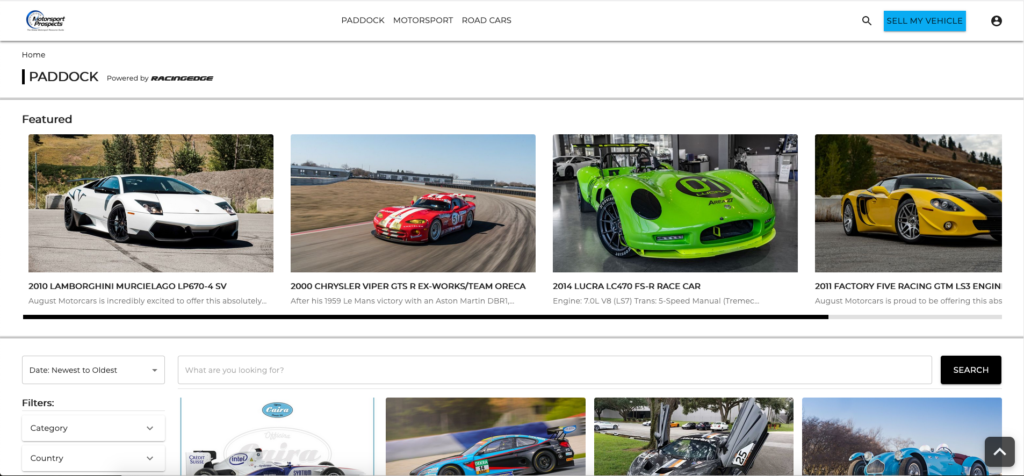Race Cars for Sale - Introducing the Marketplace at Motorsport Prospects